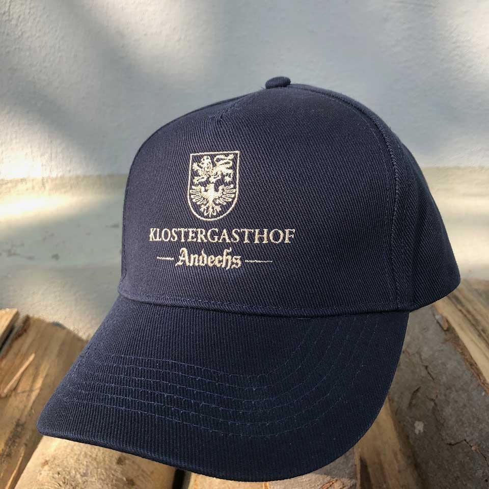 Baseball-Cap blau/ Stick beige